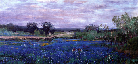 Julian Onderdonk Blue Bonnets at Twilight - Hand Painted Oil Painting