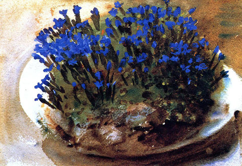 John Singer Sargent Blue Gentians - Hand Painted Oil Painting