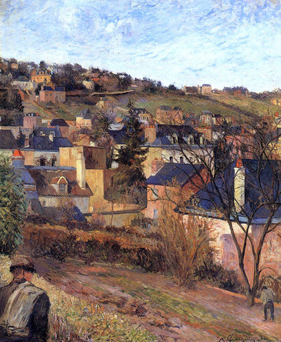 Paul Gauguin Blue Roofs, Rouen - Hand Painted Oil Painting