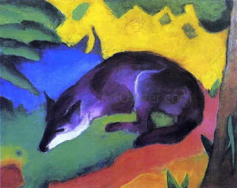 Franz Marc Blue-Black Fox - Hand Painted Oil Painting