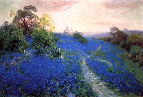 Julian Onderdonk Bluebonnet Field - Hand Painted Oil Painting