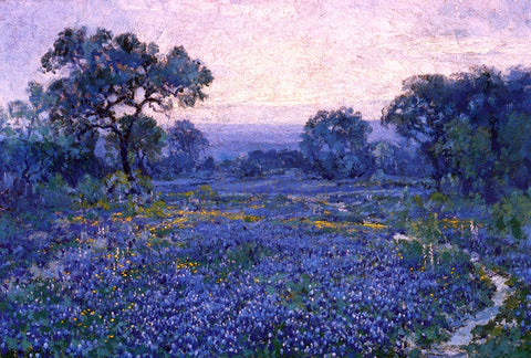 Julian Onderdonk Bluebonnet Scene - Hand Painted Oil Painting