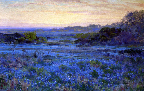 Julian Onderdonk Bluebonnet Scene with a Girl - Hand Painted Oil Painting