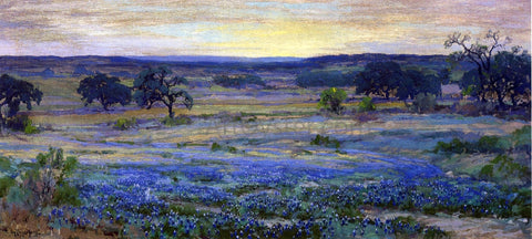 Julian Onderdonk Bluebonnets at Dusk - Hand Painted Oil Painting