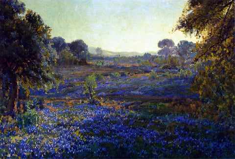 Julian Onderdonk Bluebonnets at Late Afternoon, near La Grange, Texas - Hand Painted Oil Painting