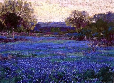 Julian Onderdonk Bluebonnets on a Grey Day - Hand Painted Oil Painting