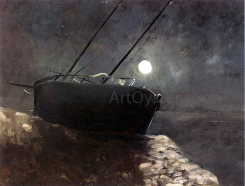 Odilon Redon Boat in the Moonlight - Hand Painted Oil Painting