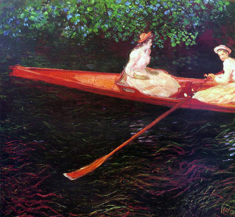 Claude Oscar Monet Boating on the River Epte - Hand Painted Oil Painting