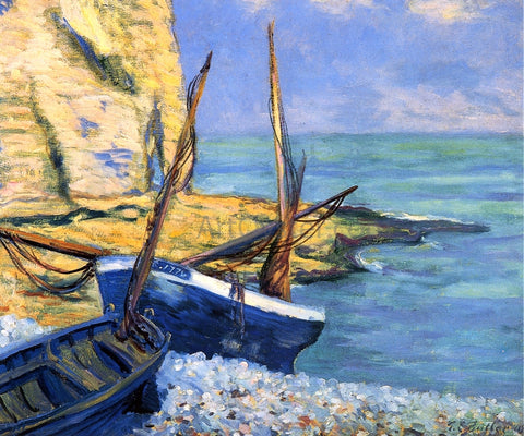 Theodore Earl Butler Boats at Etretat (also known as Bateaux a Etretat) - Hand Painted Oil Painting