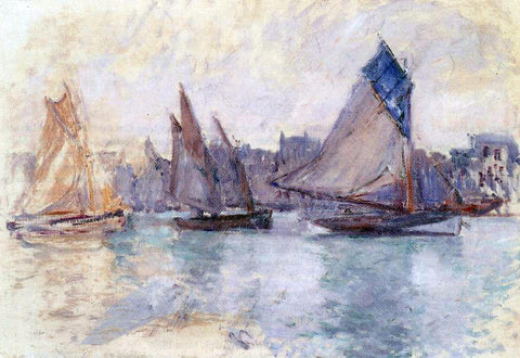 Claude Oscar Monet Boats in the Port of Le Havre - Hand Painted Oil Painting