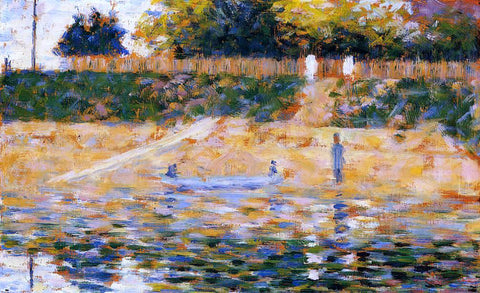 Georges Seurat Boats near the Beach at Asnieres - Hand Painted Oil Painting