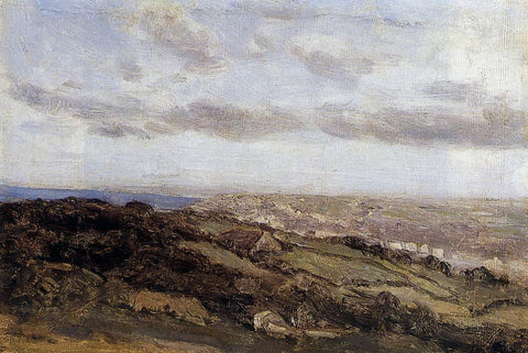 Jean-Baptiste-Camille Corot Bologne-sur-Mer, View from the High Cliffs - Hand Painted Oil Painting
