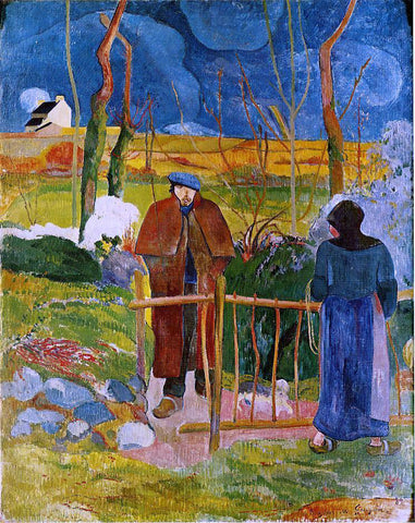 Paul Gauguin Bonjour Monsieur Gauguin - Hand Painted Oil Painting
