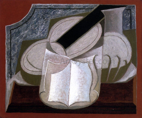 Juan Gris Book and Guitar - Hand Painted Oil Painting