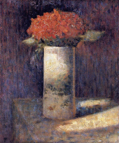 Georges Seurat Bouquet in a Vase - Hand Painted Oil Painting