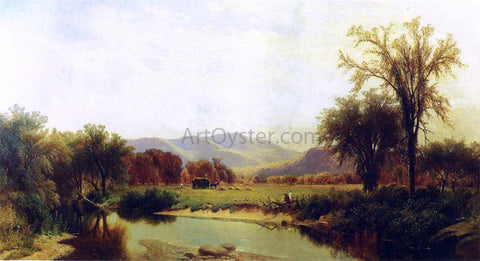 George Henry Smillie Boquet River, Elizabethtown, NY - Hand Painted Oil Painting