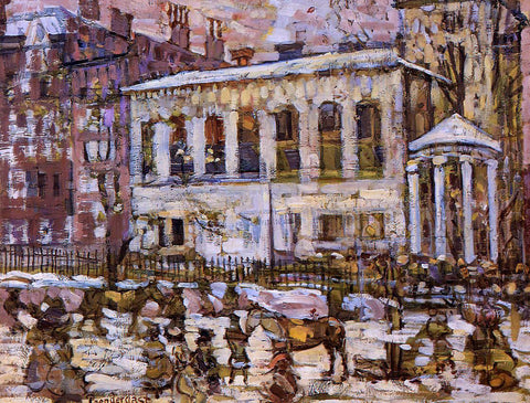 Maurice Prendergast Boston, Snowy Day - Hand Painted Oil Painting