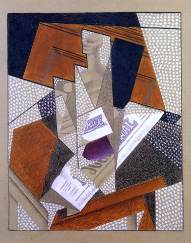 Juan Gris Bottle - Hand Painted Oil Painting