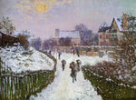 Claude Oscar Monet Boulevard St Denis, Argenteuil, Snow Effect - Hand Painted Oil Painting