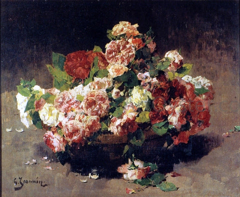 Georges Jeannin Bouquet de Roses - Hand Painted Oil Painting
