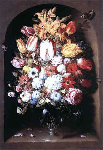 Osias Beert Bouquet in a Niche - Hand Painted Oil Painting