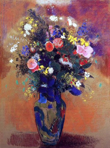 Odilon Redon Bouquet in a Persian Vase - Hand Painted Oil Painting