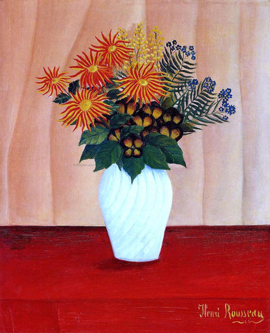Henri Rousseau Bouquet of Flowers - Hand Painted Oil Painting