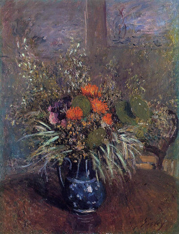 Alfred Sisley Bouquet of Flowers - Hand Painted Oil Painting