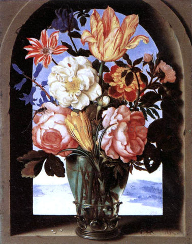 The Elder Ambrosius Bosschaert Bouquet of Flowers - Hand Painted Oil Painting