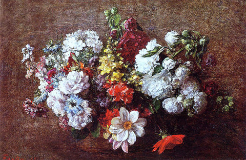 Henri Fantin-Latour Bouquet of Flowers - Hand Painted Oil Painting