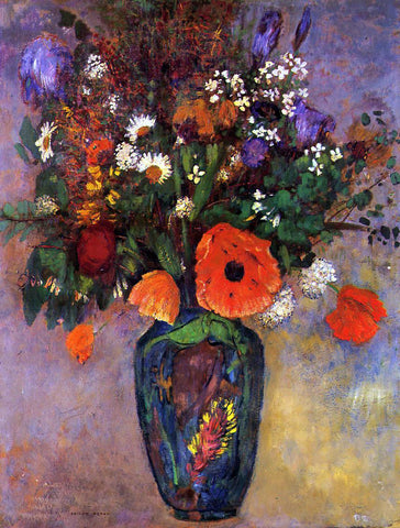 Odilon Redon Bouquet of Flowers in a Vase - Hand Painted Oil Painting