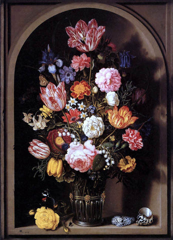The Elder Ambrosius Bosschaert Bouquet of Flowers in a Vase - Hand Painted Oil Painting