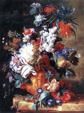 Jan Van Huysum Bouquet of Flowers in an Urn - Hand Painted Oil Painting