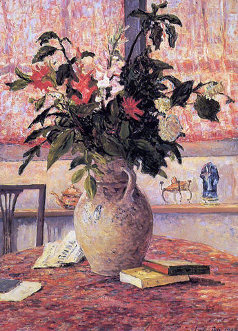 Maxime Maufra Bouquet of Flowers in Front of a Window - Hand Painted Oil Painting
