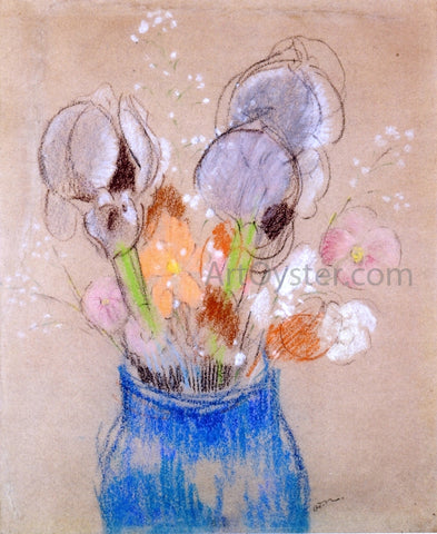 Odilon Redon Bouquet of Flowers, Irises - Hand Painted Oil Painting
