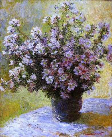 Claude Oscar Monet Bouquet of Mallows - Hand Painted Oil Painting