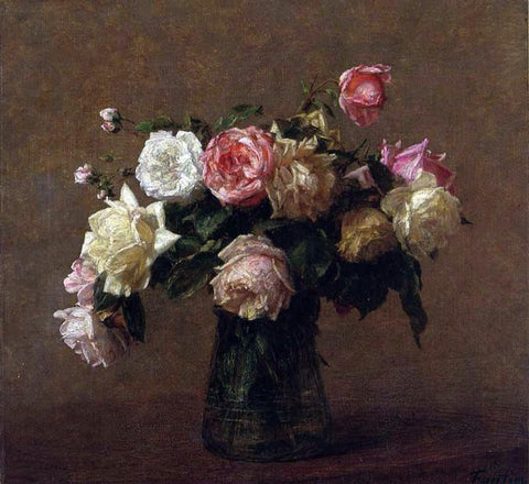 Henri Fantin-Latour Bouquet of Roses - Hand Painted Oil Painting