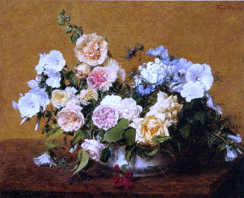 Henri Fantin-Latour Bouquet of Roses and Other Flowers - Hand Painted Oil Painting