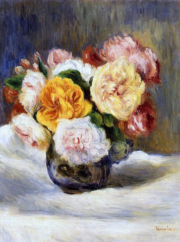 Pierre Auguste Renoir Bouquet of Roses - Hand Painted Oil Painting