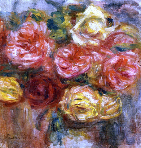 Pierre Auguste Renoir Bouquet of Roses in a Vase - Hand Painted Oil Painting
