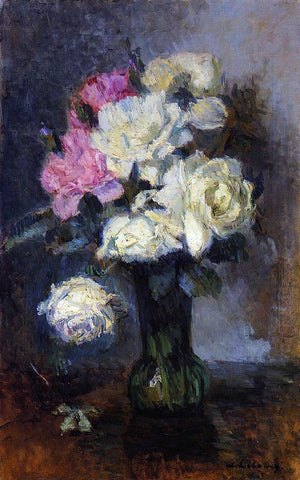 Albert Lebourg Bouquet of Roses in a Vase - Hand Painted Oil Painting