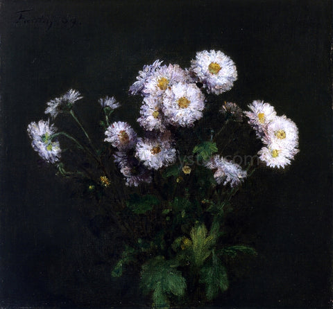 Henri Fantin-Latour Bouquet of White Chrysanthemums - Hand Painted Oil Painting
