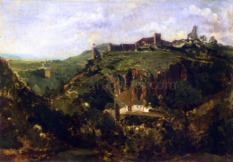 Theodore Rousseau Bourg en Auvergne - Hand Painted Oil Painting