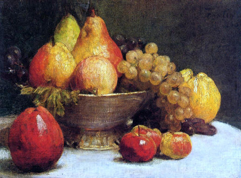 Henri Fantin-Latour Bowl of Fruit - Hand Painted Oil Painting
