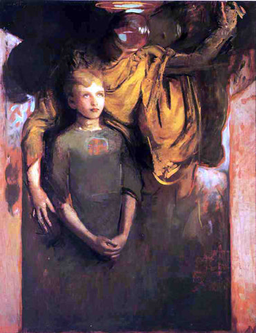Abbott Handerson Thayer Boy and Angel - Hand Painted Oil Painting