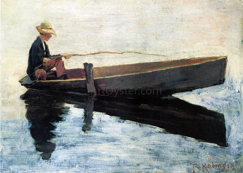Theodore Robinson A Boy in a Boat Fishing - Hand Painted Oil Painting