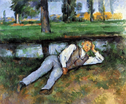 Paul Cezanne Boy Resting - Hand Painted Oil Painting