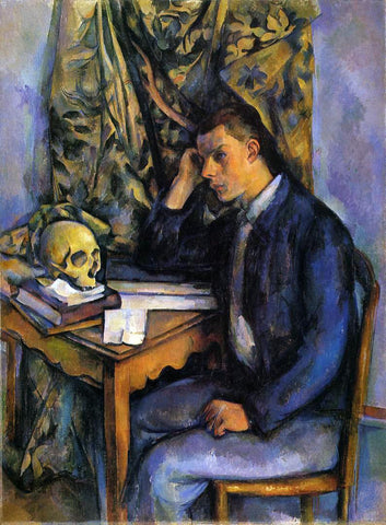 Paul Cezanne Boy with Skull - Hand Painted Oil Painting