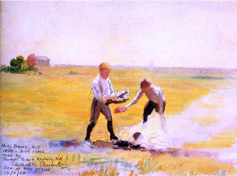 Thomas Pollock Anschutz Boys by a Fire - Hand Painted Oil Painting