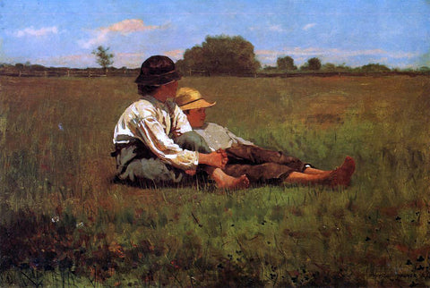 Winslow Homer Boys in a Pasture - Hand Painted Oil Painting